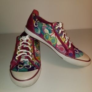 Coach colorful  women's sneakers size 7